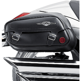 Suzuki Genuine Accessories Leather Saddlebags - Classic - Suzuki Genuine Accessories Synthetic Leather Saddlebags - Classic
