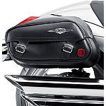 Suzuki Genuine Accessories Leather Saddlebags - Classic - Suzuki OEM Parts Cruiser Saddle Bags