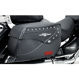 Suzuki Genuine Accessories Leather Saddlebags - Studded - 2011 Suzuki Boulevard C50T - VL800T Suzuki Genuine Accessories Synthetic Leather Saddlebags - Studded