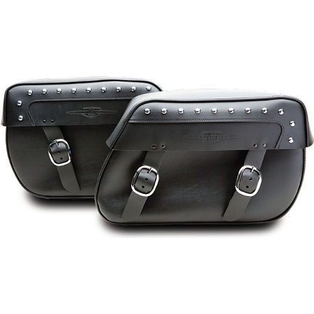 Suzuki Genuine Accessories Synthetic Leather Saddlebags - Studded - Main