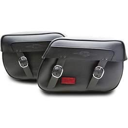 Suzuki Genuine Accessories Synthetic Leather Saddlebags - Classic - 2011 Suzuki Boulevard C50T - VL800T Suzuki Genuine Accessories Synthetic Leather Saddlebags - Studded
