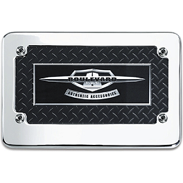 Suzuki Genuine Accessories Billet Smooth License Plate Frame - Kuryakyn Swept Eagle License Plate Frame