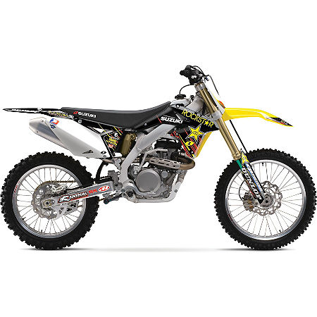 Suzuki Genuine Accessories Complete Graphics Kit - 2011 Team Rockstar Energy - Main