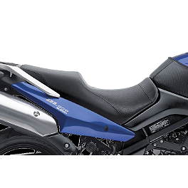 Suzuki Genuine Accessories Gel Seat - Carbon Look - Suzuki Genuine Accessories Sport Touring Windshield - Light Smoke