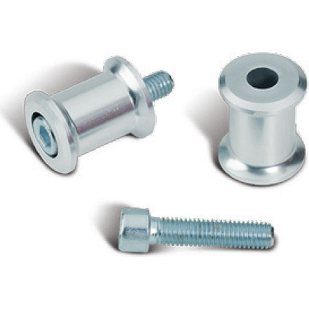 Suzuki Genuine Accessories Swingarm Spools - Silver - Main