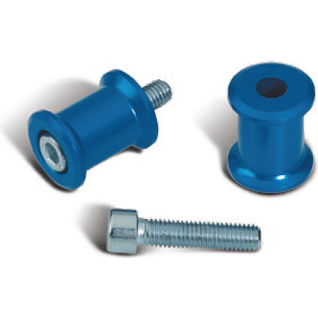 Suzuki Genuine Accessories Swingarm Spools - Blue - Main