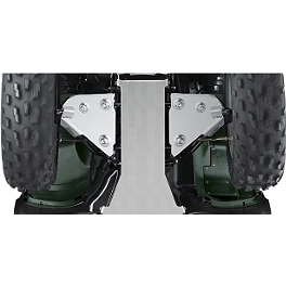 Suzuki Genuine Accessories Front A-Arm Guards - Suzuki Genuine Accessories Two Piece Skid Plate