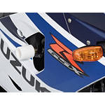 Suzuki Genuine Accessories Frame Sliders - White - Motorcycle Decals & Graphic Kits