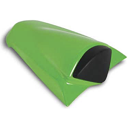 Kawasaki Genuine Accessories Seat Cowl - Candy Lime Green - Kawasaki Genuine Accessories Seat Cowl - Ebony