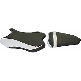 GYTR HT Moto Seat Covers - Black / White - 2007 Yamaha YZF - R1 GYTR Frame Sliders