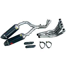 Yamaha/Akrapovic Evolution Carbon Fiber Exhaust System - Carbon Fiber End Cap - Yamaha/Akrapovic Evolution Titanium Exhaust System - Titanium End Cap