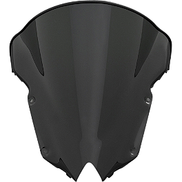 GYTR Raised Bubble Windscreen - Tinted - GYTR FZ6R Bike Cover - Black