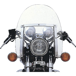Yamaha Star Accessories Classic V Windshield - 2010 Yamaha V Star 250 - XV250 Yamaha Star Accessories Classic Deluxe Saddlebags - Plain