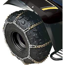 "Yamaha Genuine OEM Tire Chains - 8"" - 2009 Yamaha GRIZZLY 700 4X4 Yamaha Genuine OEM Heavy-Duty Front Brush Guard"