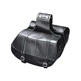 Yamaha Star Accessories Classic Deluxe Saddlebags - Plain - 2010 Yamaha V Star 650 Midnight Custom - XVS65M Yamaha Star Accessories Slant Star Saddlebags