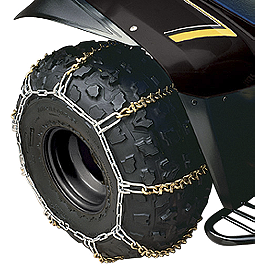 "Yamaha Genuine OEM Tire Chains - 9"" - 2013 Yamaha GRIZZLY 550 4X4 Yamaha Genuine OEM Heavy-Duty Front Brush Guard"
