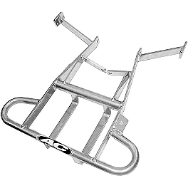 AC Racing Cooler Rack - 1988 Honda TRX250R AC Racing MX Peg Nerf Bars - Silver