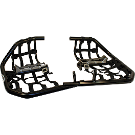 AC Racing MX Peg Nerf Bars - Black - 1989 Honda TRX250R AC Racing Cooler Rack