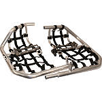 AC Racing MX Peg Nerf Bars - Silver - AC Racing Dirt Bike ATV Parts