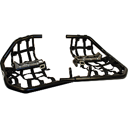 AC Racing MX Peg Nerf Bars - Black - 2005 Yamaha YFZ450 AC Racing Cooler Rack