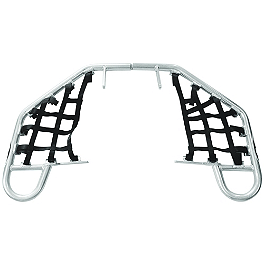 AC Racing Nerf Bars - 2009 Yamaha RAPTOR 350 Rock Cross Country Front Bumper - Polished