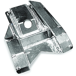 AC Racing Swingarm Skid Plate - 2007 Honda TRX450R (KICK START) AC Racing MX Peg Nerf Bars - Silver