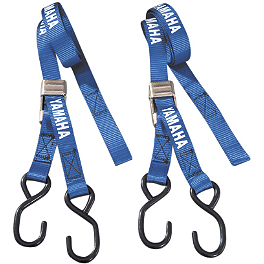Yamaha Genuine OEM Buckle Tie Downs - Blue - GYTR Plastic Kit - Blue