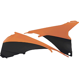 Acerbis Airbox Covers - 2011 KTM 250SXF Factory Effex FP1 Seat Cover - Black