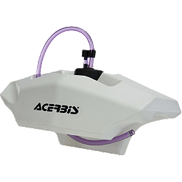 Acerbis Auxiliary Handlebar Fuel Tank 0.6 Gallon - White - Pro Moto Billet Turn Signal Relocator Mounts