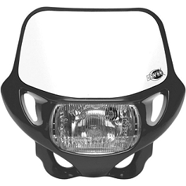 Acerbis CE / DOT Certified DHH Headlight - Acerbis Auxiliary Handlebar Fuel Tank 0.6 Gallon - White