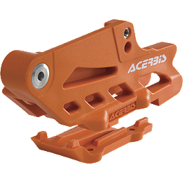 Acerbis Chain Guide - KTM Orange - 2010 KTM 450SXF Acerbis Swing Arm Rub Plate - Black