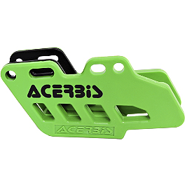 Acerbis Chain Guide - Green - Acerbis Swing Arm Rub Plate - Green