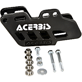 Acerbis Chain Guide - Black - Kawasaki Genuine Accessories Rear Fender - Green