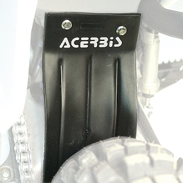 Acerbis Mud Flap Black - 2005 Honda CR85 Big Wheel Acerbis Fork Cover Set