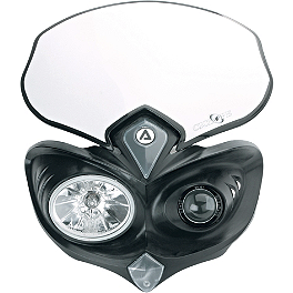 Acerbis Cyclops Headlight - Black - Acerbis Auxiliary Handlebar Fuel Tank 0.6 Gallon - White