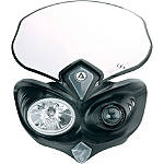 Acerbis Cyclops Headlight - Black - Acerbis Dirt Bike Headlight Assemblies