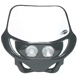 Acerbis DHH Headlight - Acerbis Swing Arm Rub Plate - White