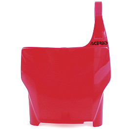 Acerbis Front Number Plate - 2000 Honda CR250 UFO Fork Guards