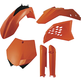 Acerbis Full Plastic Kit - KTM - 2013 KTM 350SXF Acerbis Mud Flap Black