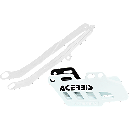 Acerbis Chain Guide / Slider Kit - White - Acerbis Swing Arm Rub Plate - White