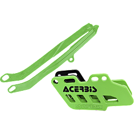 Acerbis Chain Guide / Slider Kit - Green - 2010 Kawasaki KX250F Acerbis Plastic Kit
