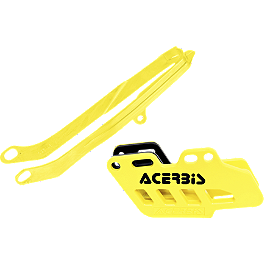 Acerbis Chain Guide / Slider Kit - Yellow - Acerbis Swing Arm Rub Plate - Yellow