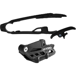 Acerbis Chain Guide / Slider Kit - Black - 2013 KTM 450SXF Acerbis Spider Evolution Disc Cover With Mount Kit