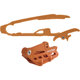 Acerbis Chain Guide / Slider Kit - Orange - Acerbis Swing Arm Rub Plate - Orange