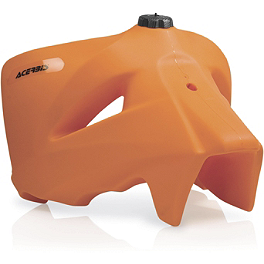 Acerbis Gas Tank 6.6 Gallons - Orange - 2004 KTM 250SX Acerbis Mud Flap Black