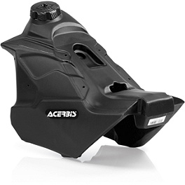Acerbis Gas Tank 2.9 Gallons - Black - 2008 KTM 450EXC Acerbis Spider Evolution Disc Cover With Mount Kit