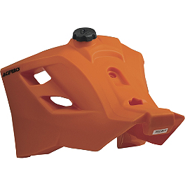 Acerbis Gas Tank 6.3 Gallons - Orange - Acerbis Gas Tank 3.4 Gallons - Black