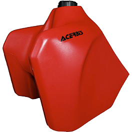 Acerbis Gas Tank 5.8 Gallons - Red - UFO Rear Fender With Light 02+ - Red