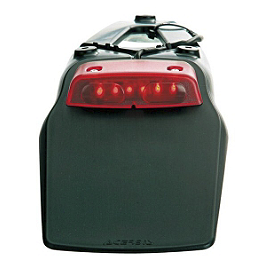 Acerbis LED Tail Light - 1986 Kawasaki KX125 Acerbis Mud Flap Black