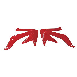 Acerbis Radiator Shrouds - 2006 Honda CR85 Big Wheel Acerbis Fork Cover Set